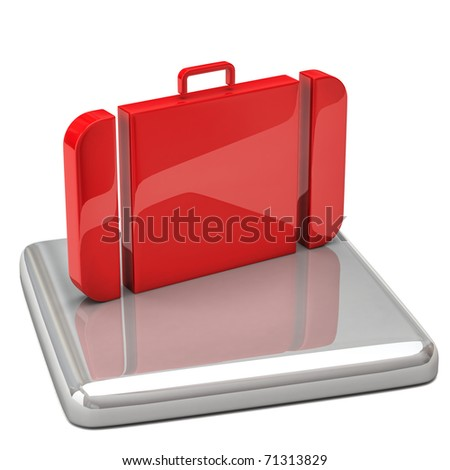 Travel icon - stock photo