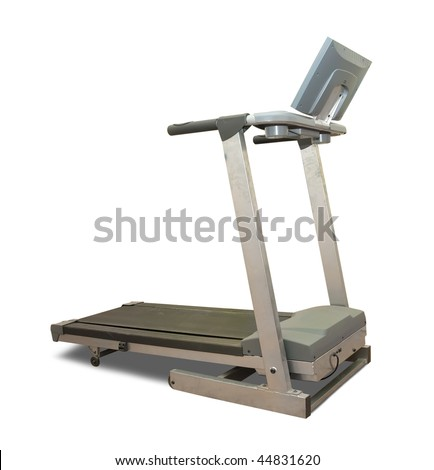 treadmill. Isolated on white background with clipping path - stock photo