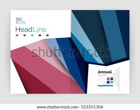 Business Annual Report Brochure Design Vector Vector – Business Annual Report Template
