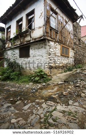 Turkey - September 22 ,2015 :Cumalikizik, a historical village. The village is within the boundaries of the province of Bursa.
