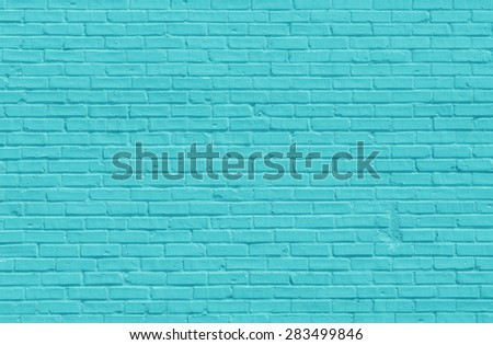 Turquoise brick wall for background or texture - stock photo