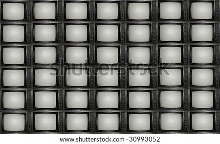 'TV wall' - stock photo