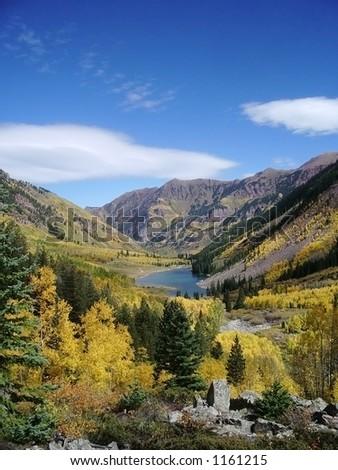 twin lakes colorado - stock photo