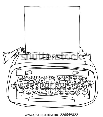 Cute Typewriter Clipart Typewriter Cute With Paper