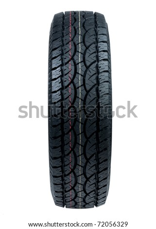 tyre for car or pickup truck - stock photo