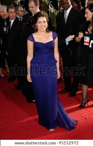 """Ugly Betty"" star AMERICA FERRERA at the 64th Annual Golden Globe Awards at the Beverly Hilton Hotel. January 15, 2007 Beverly Hills, CA Picture: Paul Smith / Featureflash"