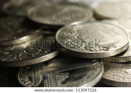Ukrainian coins - stock photo