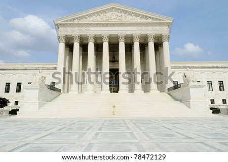 United States Supreme Court building in Washington, DC. - stock photo