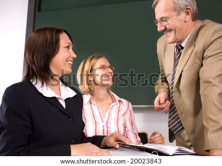University professor giving a lecture - stock photo