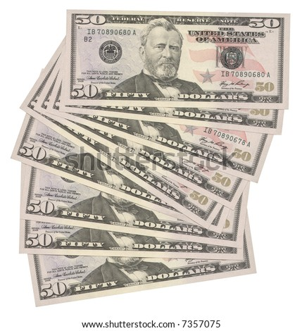50 US dollar - stock photo
