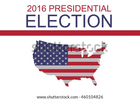 2016 Us Presidential Election Stars And Stripes Map Of The Usa Ilration