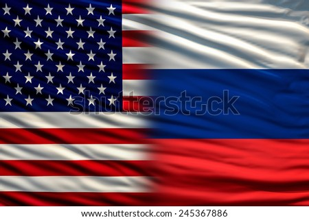 USA and Russia - stock photo