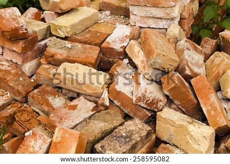 used bricks - stock photo