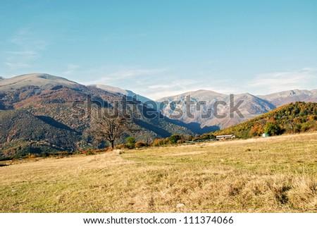 ?utumn mountains - stock photo