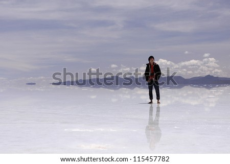 Uyuni Salt Flat Reflection