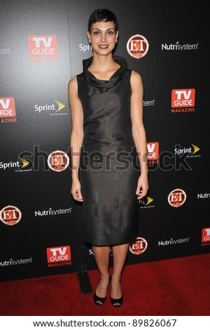 """""""V"""" star Morena Baccarin at TV Guide Magazine's Hot List Party at the SLS Hotel, Beverly Hills. November 10, 2009  Los Angeles, CA Picture: Paul Smith / Featureflash - stock photo"""