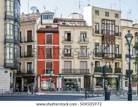 Valladolid-August 18, Typical city view of Valladolid on August 18, 2012 on Valladolid, Casilla y Leon, Spain