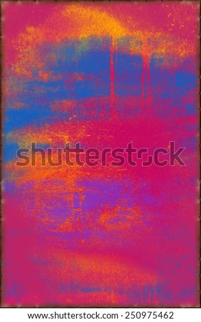 Vibrant Pink Texture with Rusty Seams Along Edges (Part of Vibrant Metal Textures set, which includes 12 textures that fit together perfectly to form a huge image. No noise, even lighting) - stock photo