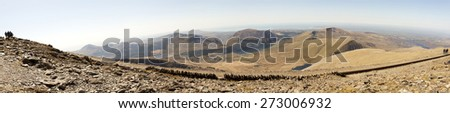 View from Snowdon summit - stock photo