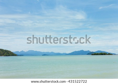 view island and tropical sea,Thailand