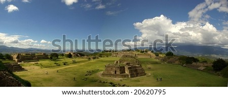 view of Teotihuacan in Mexico - stock photo