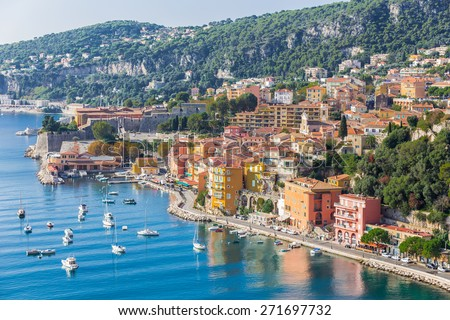 Villefranche-sur-Mer, Cote d'Azur, french reviera, near Nice and Monaco - stock photo