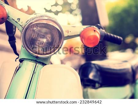 vintage classic motorcycle - stock photo