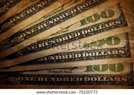 vintage US dollar - stock photo