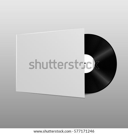 realistic vector music gramophone vinyl lp stock vector 561940780 shutterstock. Black Bedroom Furniture Sets. Home Design Ideas