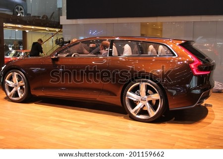 2014 Volvo Estate Concept Presented 84th Stock Photo Royalty Free