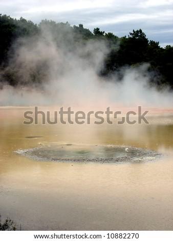 Waiotapu  pool - stock photo