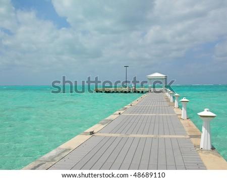 Walking on water - stock photo