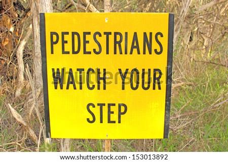 walking warning sign - stock photo