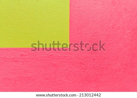 Walls painted red and yellow. - stock photo