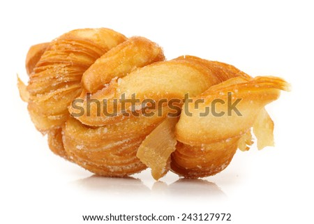 warm and chewy salted soft pretzels. - stock photo