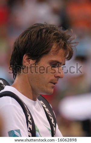 WASHINGTON, D.C. - AUGUST 11, 2008:  Tommy Haas (GER) during his first-round win over Rik De Voest (RSA, not pictured) at the Legg Mason Tennis Classic