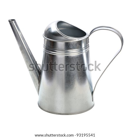 watering can isolated on white background - stock photo