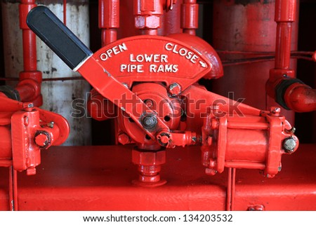 4-Way Valve for BOP Closing System Unit (Koomey Unit) for BOP Control System in Oil Drilling Rig - stock photo