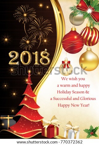 2018 we wish you merry christmas stock illustration 770372362 2018 we wish you a merry christmas and a happy new year corporate greeting m4hsunfo