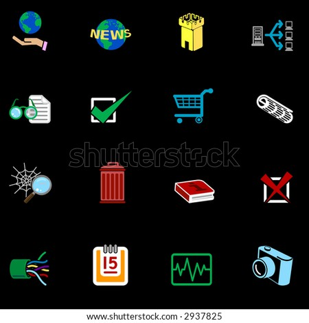 Web and Computing Icons Series Set A series of web icons set. Raster version - stock photo