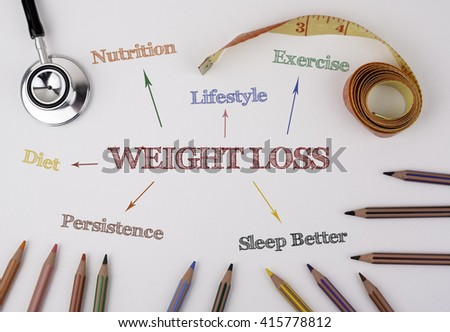 Weight Loss, fitness, sport, health concept - stock photo