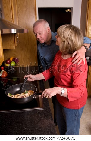 """What's for dinner?"" - stock photo"