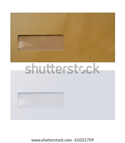 1 White &  1 brown envelope - stock photo