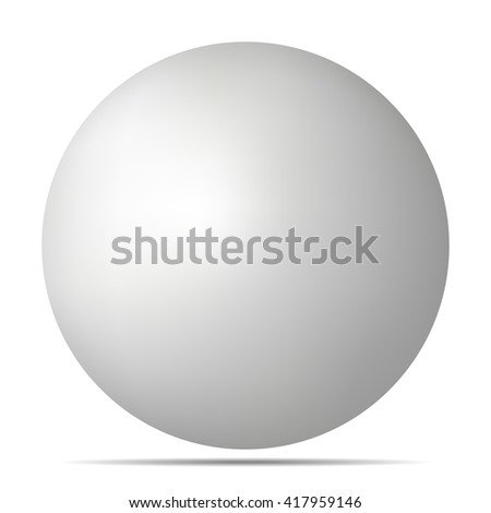white 3D sphere with realistic shadow and light for logo, design concepts, web, presentations and prints. 3D illustration on white background. Simple Template Ball for your Mock-Up Design - stock photo