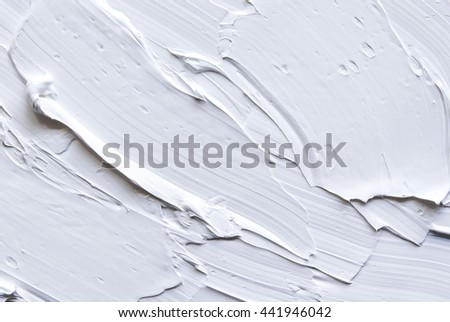 White oil paint as background