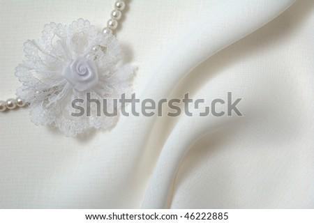 white textile  background - stock photo