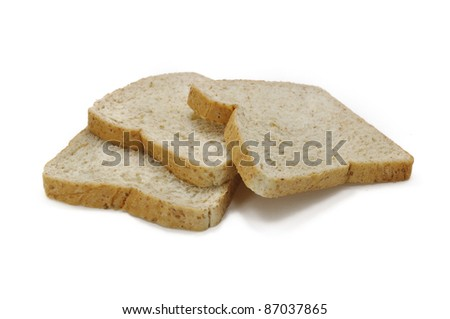 """Whole Wheat Bread"" isolated on white background"