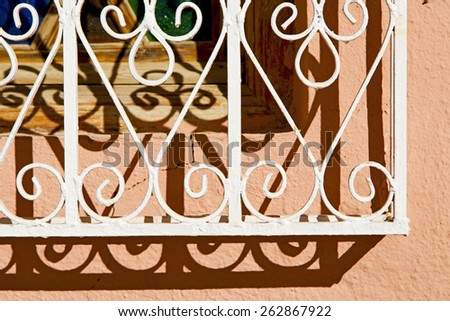 window in morocco africa and old construction wal brick historical - stock photo