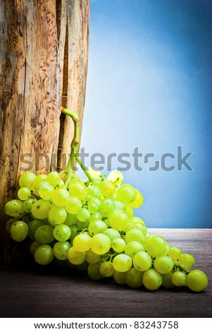 ,Wine, grapes and grapevine, - stock photo