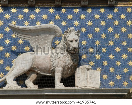 Winged Lion St Mark On Clock Stock Photo Royalty Free 41935741